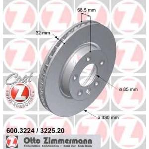 ZIMMERMANN 600.3224.20 Диск гальмівний