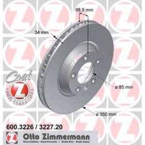 ZIMMERMANN 600.3226.20 Диск гальмівний