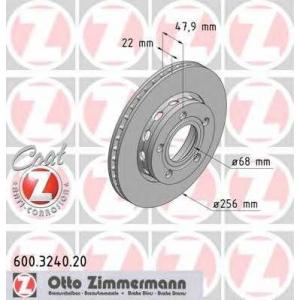 ZIMMERMANN 600.3240.20 Диск гальмівний