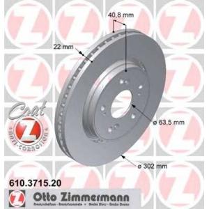 ZIMMERMANN 610371520 задний вент. Volvo S60, S80, V70, XC70 08- (302x22)