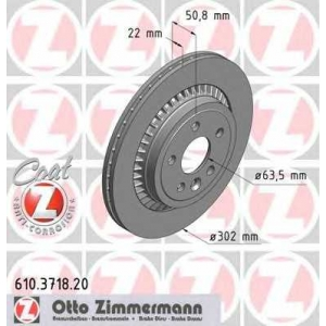 ZIMMERMANN 610371820 задний VOLVO XC60 2010- (302х22)