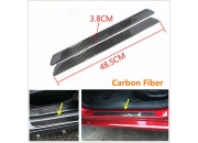 2Pcs Real Carbon Fiber Auto Car Scuff Plate дверь Sill Cover панель Step Protecors