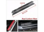 2x Universal Carbon Fiber Car Scuff Plate дверь Sill Cover панель Step Protecors